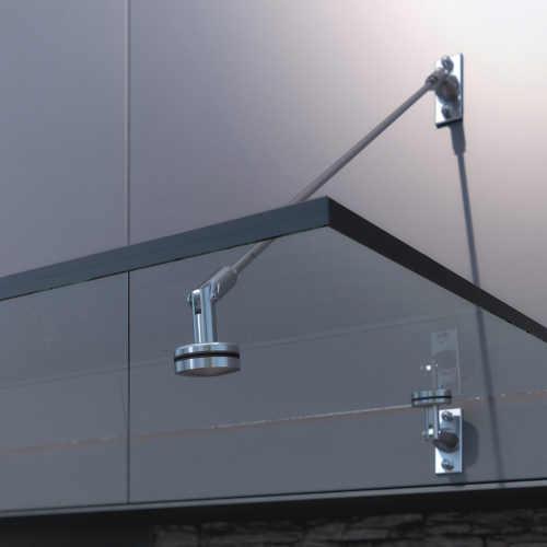 Designová závěsná skleněná stříška nad vchodové dveře