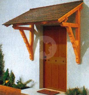 Dřevěná stříška nad dveře VLADEKO 160 cm