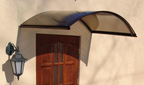 Hnědá oblouková vchodová stříška MAIA 130x70 cm