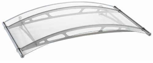Vchodová stříška prémiové kvality z akrylového skla s nosníky z ušlechtilé oceli