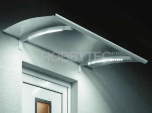 Vchodová stříška s moderním LED osvětlením