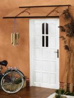 Vchodová stříška v různém barevném dekoru
