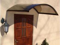 Levná hnědá oblouková vchodová stříška RONDO N 160 x 70 cm
