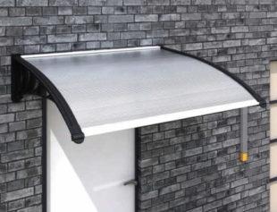 Levná vchodová polykarbonátová stříška 120 x 100 cm