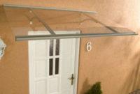 Stříška nad vstupní dveře 120/85 cm z hliníku a průhledného plexiskla