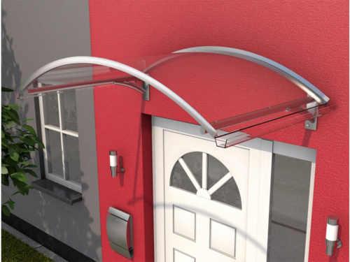 Hliníková oblouková stříška v moderním designu