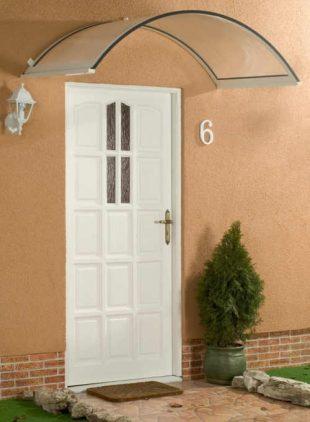 Oblouková stříška nad dveře 160x75 cm