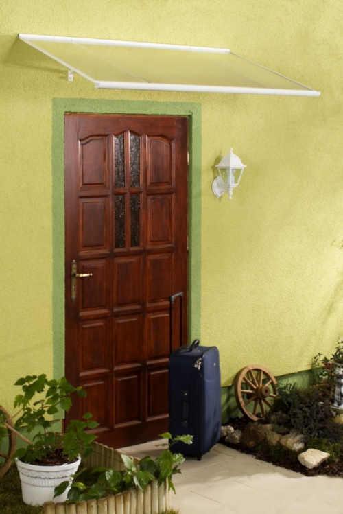 stříška nad dveře z polykarbonátového materiálu