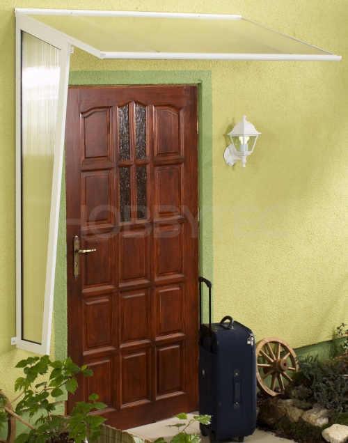 rovná stříška nad dveře